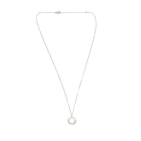 Collar de Diamante Oro de 18 Kts. Modelo Círculo