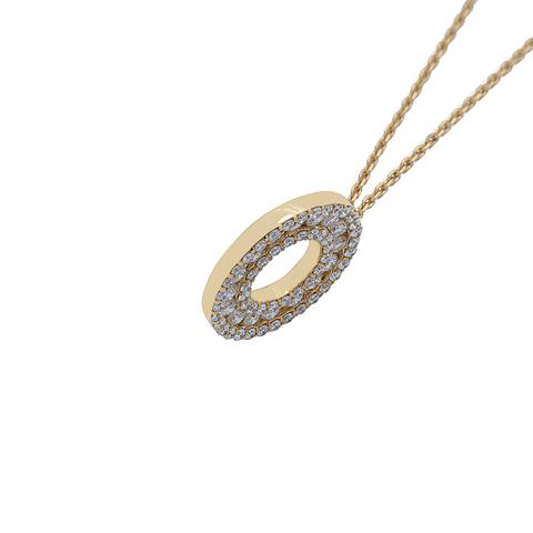 Collar de Diamante Oro de 18 Kts. Modelo Círculo sin fin