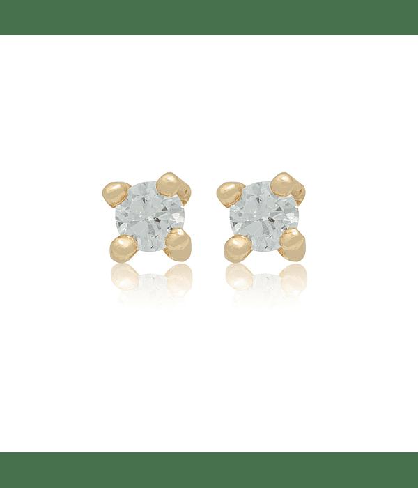Aros Oro 18kt Diamantes, 16ptos