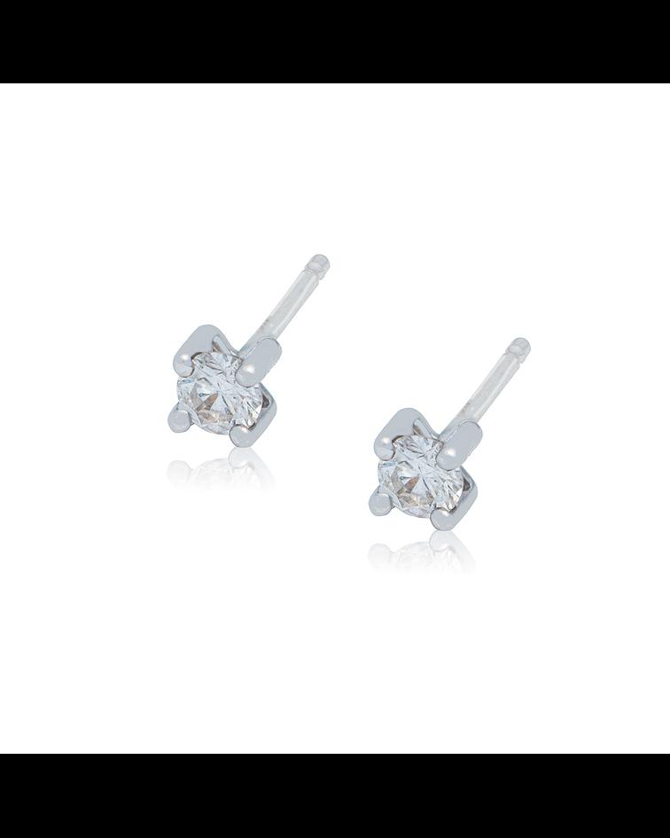 Aro de Diamantes Oro 18 Kt. Modelo Solitario 22 Pts