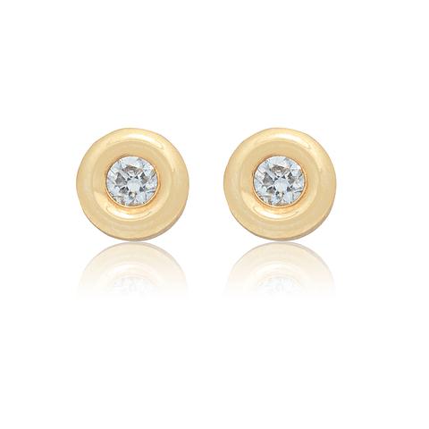 Aro de Diamantes Oro 18 Kt. Modelo Punto de Luz 20 Pts.