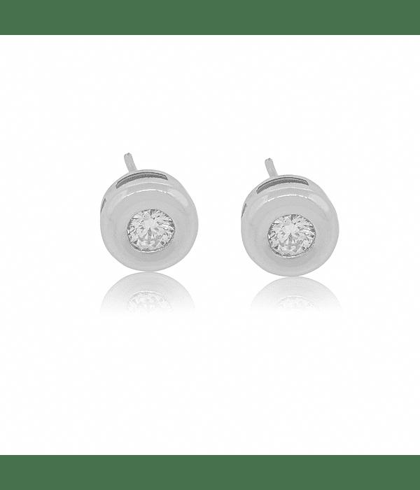 Aro de Diamantes Oro Blanco 18 Kt. Modelo Punto de Luz 34 Ptos.