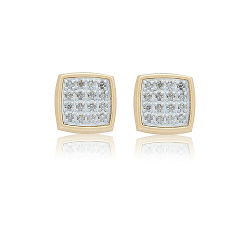 Aro de Diamantes Oro 18 Kt. Modelo Cuadrado 10 Ptos