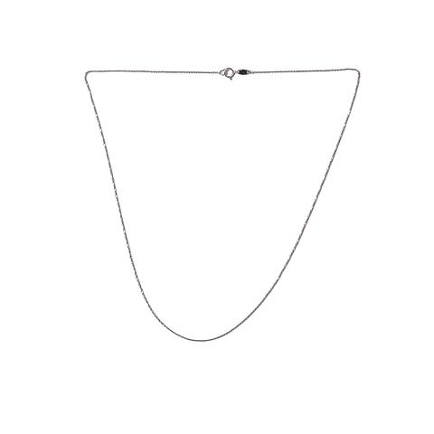 Cadena Oro Blanco 18Kt. Modelo Limada con un peso 1.2 grs.