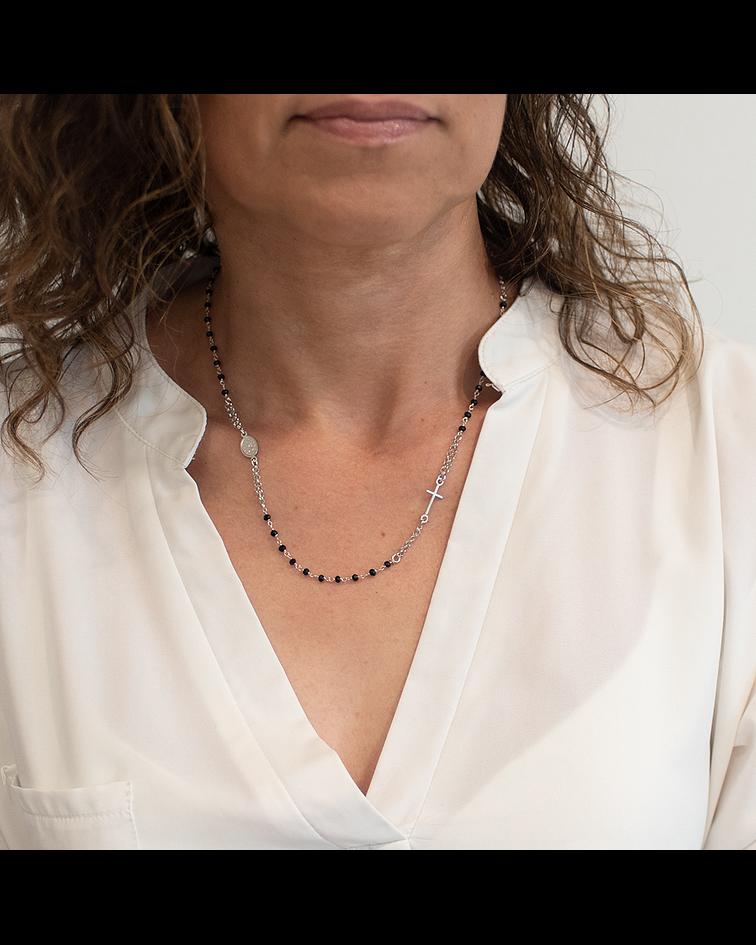 Collar Plata Italiana 925 Rosario