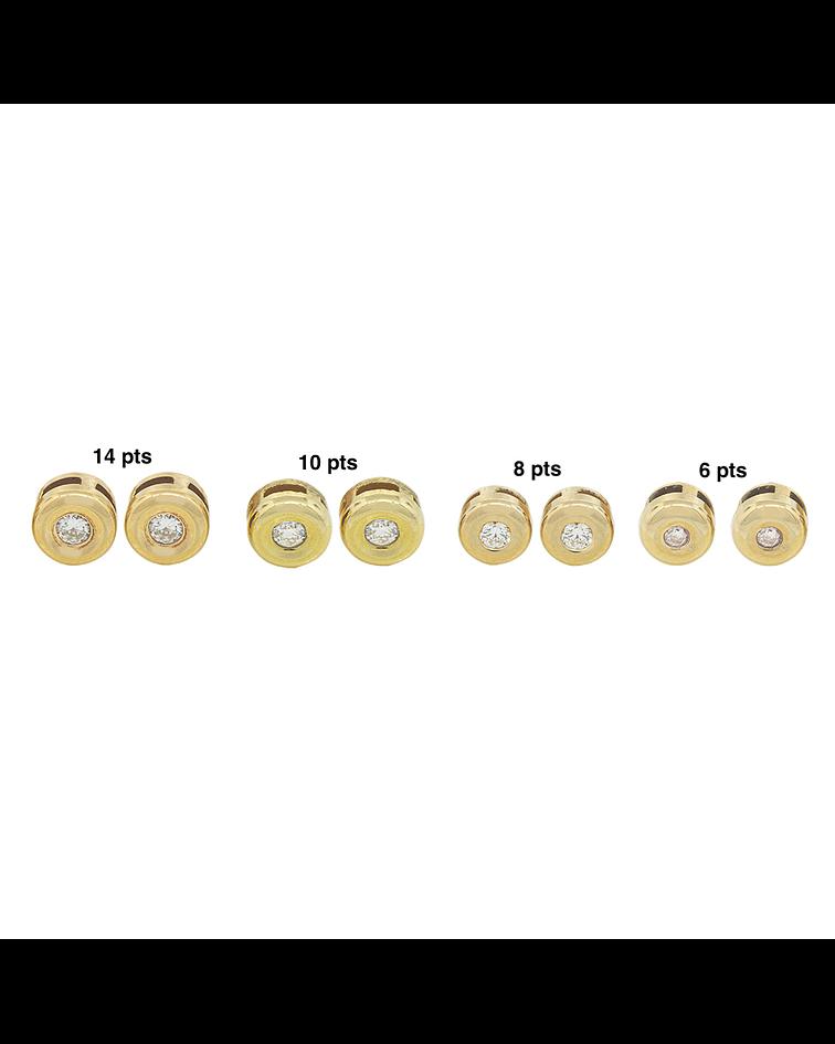 Aro de Diamantes Oro Amarillo 18 Kt. Modelo Punto de Luz