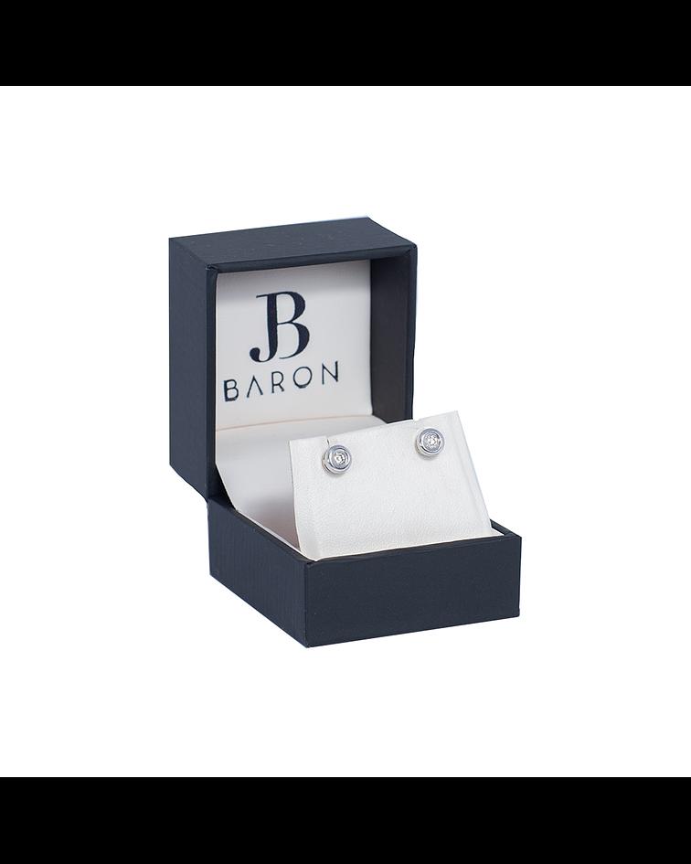 Aro de Diamantes Oro Blanco 18 Kt. Modelo Punto de Luz