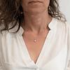 Collar Oro Blanco 18 kts con Diamantes modelo Roseta