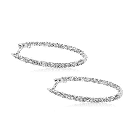 Aro Oro Blanco 18kt Diamantes  Argollas