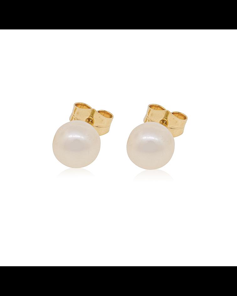 Aro oro 18kt Perla cultivada sola 7.0mm-8.0mm
