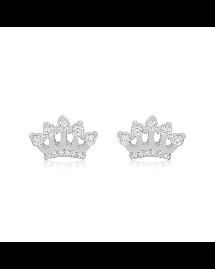 Aros De Plata Italiana 925 Reina Circones