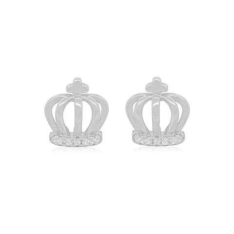 Aros de Plata Italiana 925 Corona Circones