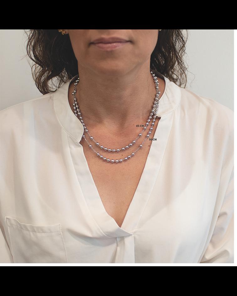 Collar Plata Italiana 925 Denario Bolita