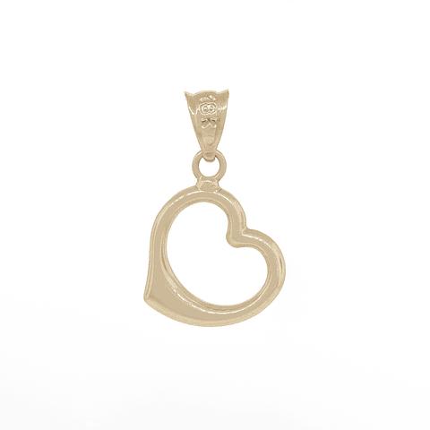 Colgante Oro 18kt Corazon Bicolor