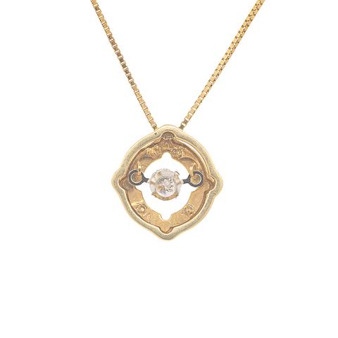 Collar de Diamante Oro de 18 Kts.