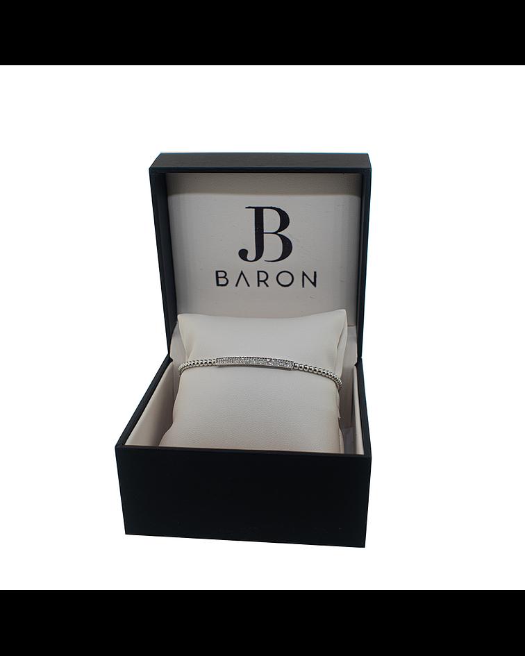 Pulsera Oro Blanco 18kt Diamantes (Brazalete)