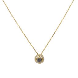 Collar de Diamante Oro de 18 Kts. con Zafiro Natural