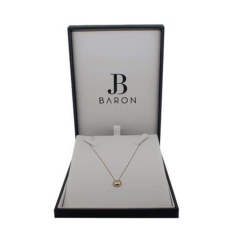 Collar de Diamante Oro de 18 Kts. Círculo