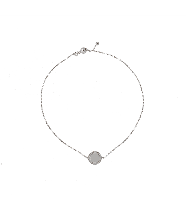 Pulsera de Diamante Oro de 18 Kts. Círculo