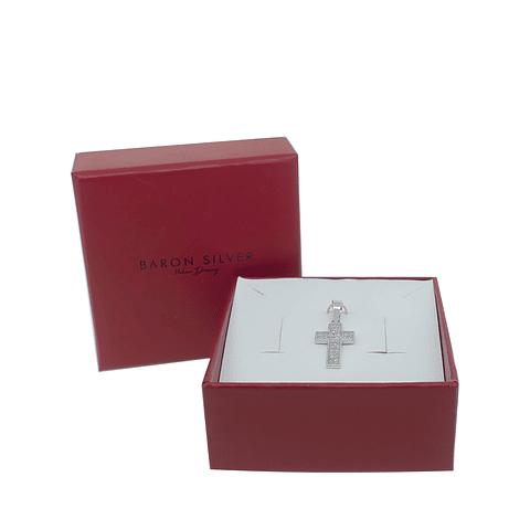 Colgante De Plata Italiana 925  Cruz Circones