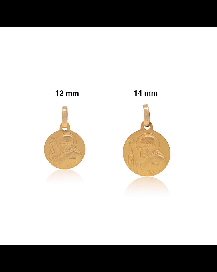 Colgante Oro 18kt San Benito Medalla 14mm