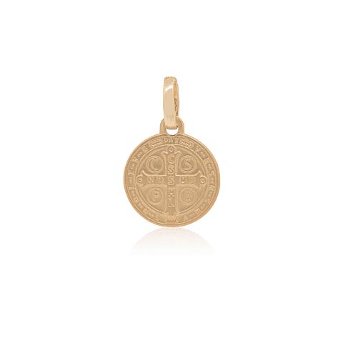Colgante Oro 18kt San Benito Medalla 12 mm