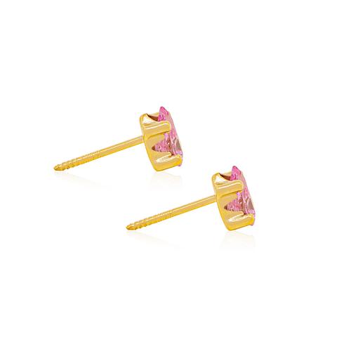 Aros Oro 18kt  Gota Rosa de Francia
