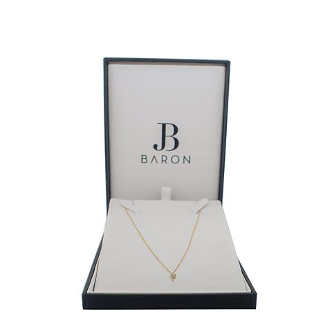 Collar de Diamante Oro de 18 Kts. Modelo Letra F
