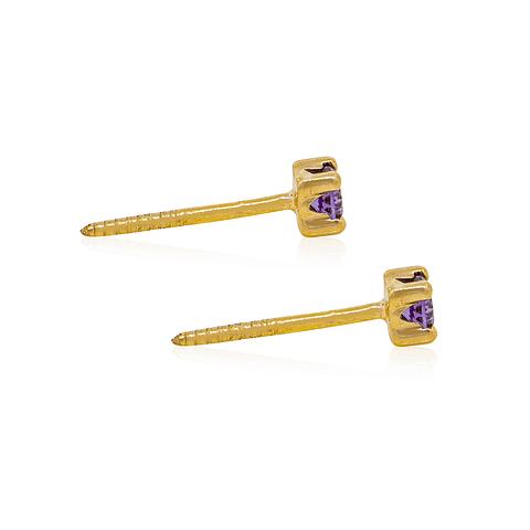 Aros Oro 18kt Amatista 2,5mm