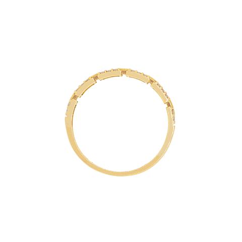 Anillo Oro 18kt Modelo Cadena Circon