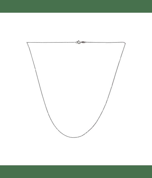 Cadena Oro Blanco 18Kt. Modelo Espejo