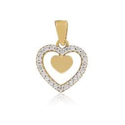 Colgante de Oro de 18 Kt  Corazón Circon.