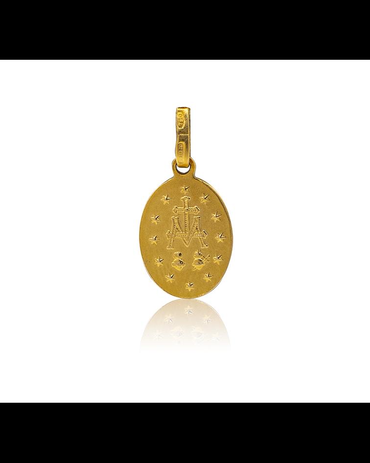 Colgante Oro 18kt Virgen de los Rayos.
