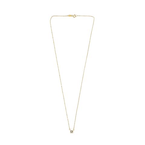collar Oro 18kt . Modelo Solitario
