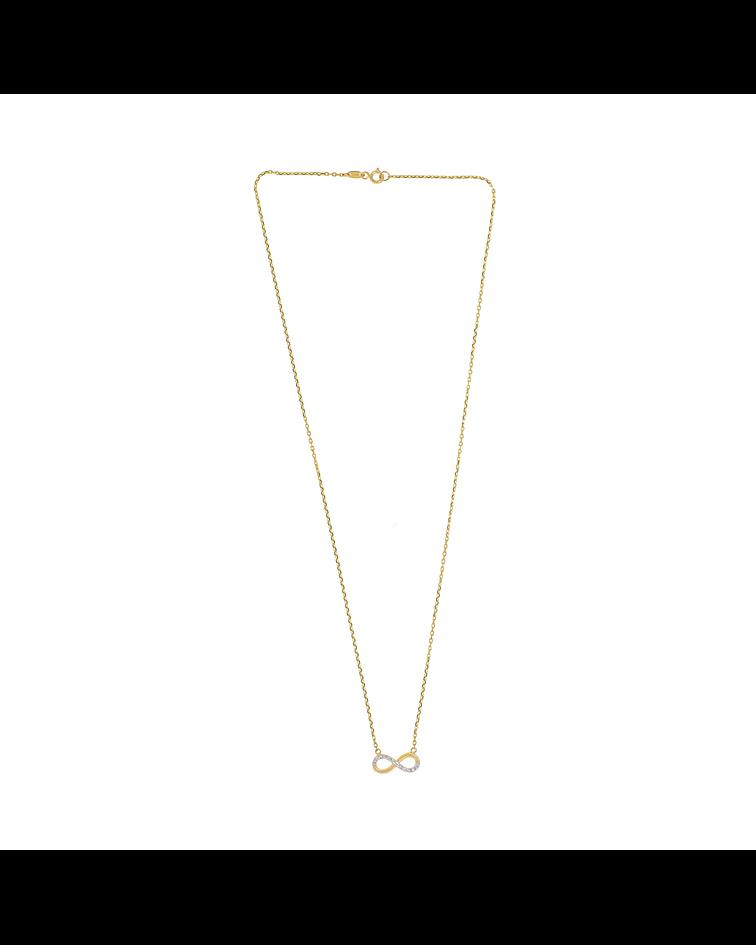 Collar Oro 18kt . Modelo Infinito Bicolor