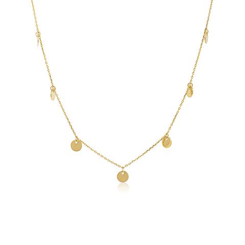 collar Oro 18kt . Modelo Choker Circulos