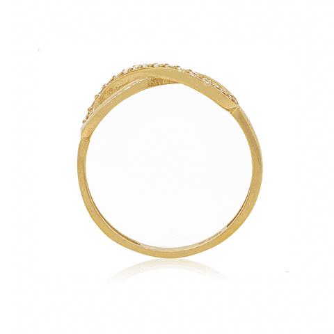 Anillo Oro 18kt Infinito Circón