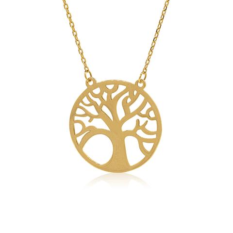 collar Oro 18kt . Modelo Arbol de la vida
