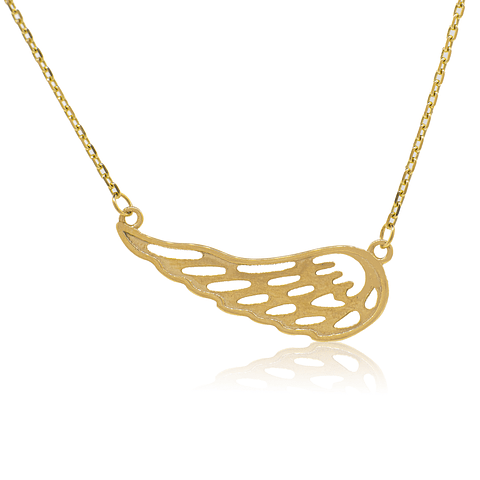 Collar Oro 18kt . Modelo Ala
