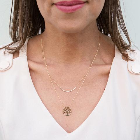 collar Oro 18kt . Modelo Circones