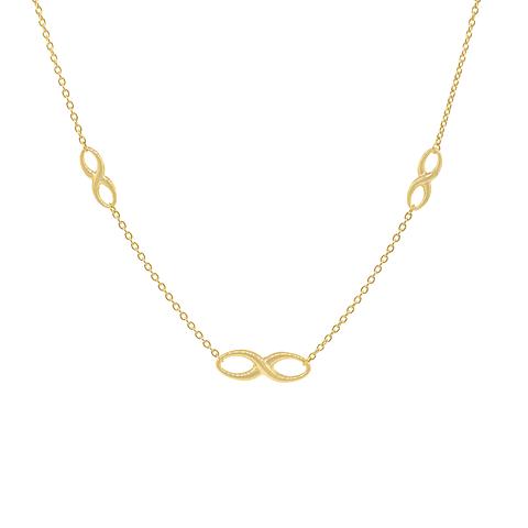 Collar Oro 18kt Infinito