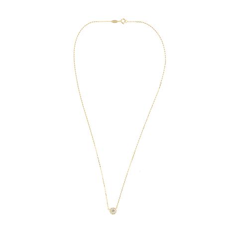 Collar Oro  100% 18kt Punto de Luz en riel