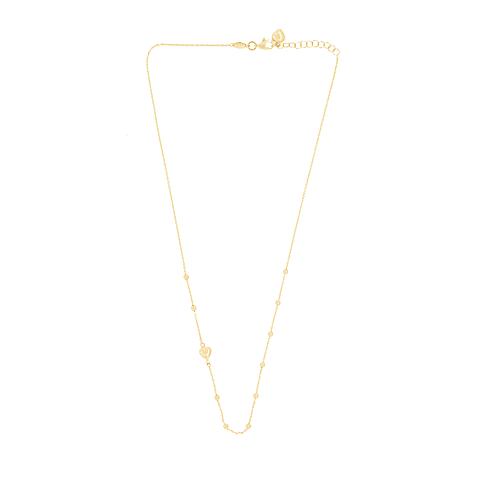 Collar Oro 18kt Corazón Bolita