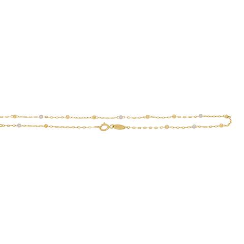 Collar Oro 18kt Rosario Tricolor