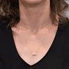 Collar Oro 18kt . Modelo Infinito Bicolor Circones