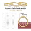 Anillo Oro 18Kt  Ancho  Circon.