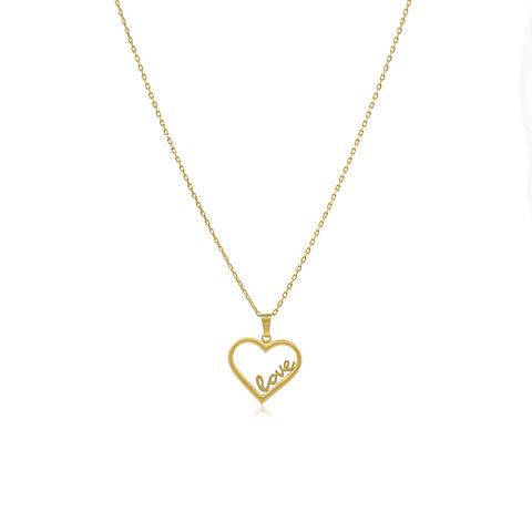 Collar Oro 18kt Corazón  Love.