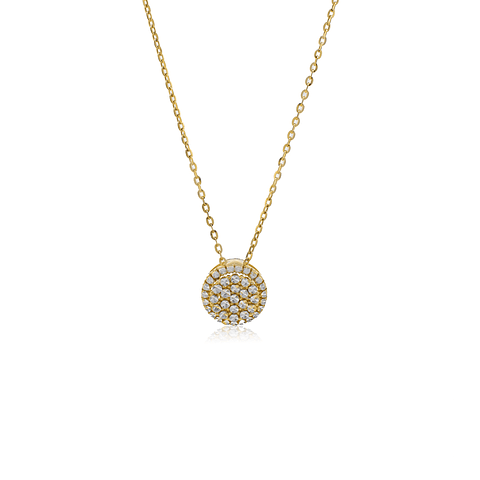 Collar Oro 18kt  Luz Bicolor.