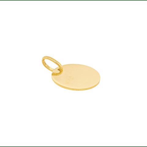 Colgante de Oro de 18 Kt Disco.
