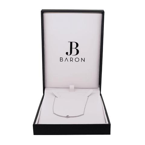 Collar Oro Blanco 18kt Diamantes
